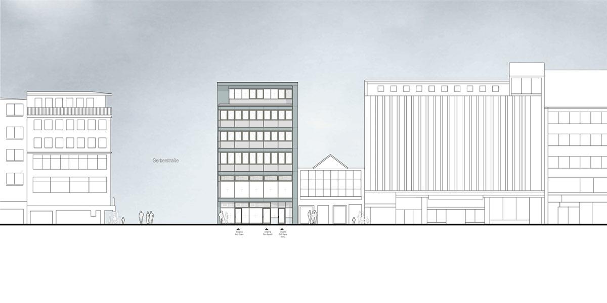 Gesch ftshaus dortmund henke siassi architekten - Ansicht architektur ...